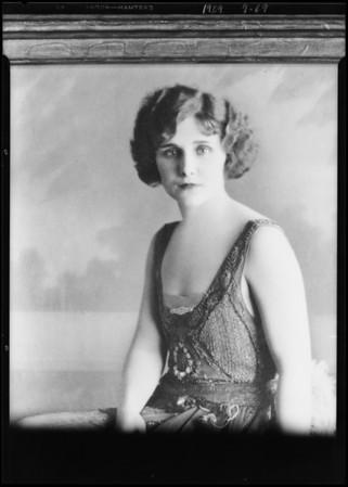 Girl portrait, Mr. Moreno, Southern California, 1929