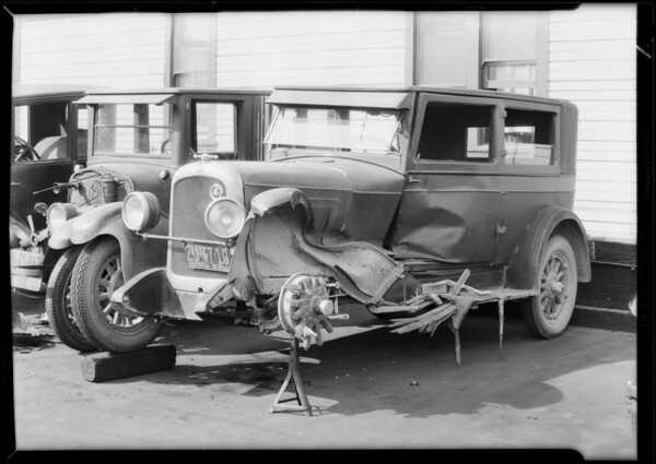 Wrecked Overland, Southern California, 1929