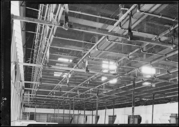 Installation at County Hospital, Western Lathing Co., Los Angeles, CA, 1931