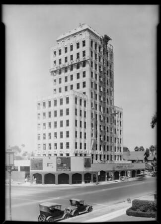 Wilshire professional building under construction, 3875 Wilshire Boulevard, Los Angeles, CA, 1929