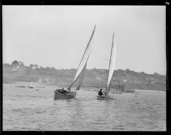 Boat racing at Cabrillo Beach, Los Angeles, CA, 1931