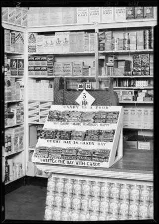 Candy display, 1663 East Vernon Avenue, Los Angeles, CA, 1929