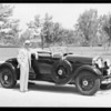 Special built roadster and owner, Southern California, 1930
