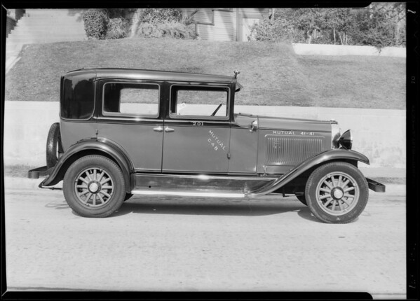 New Mutual cab, Southern California, 1930