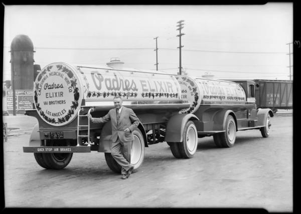 Padres Elixir truck, Southern California, 1931