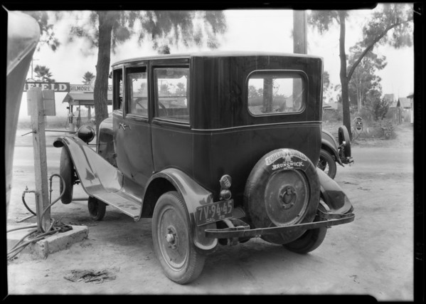 Wrecked Dodge, Boulevard Garage, 16419 South Main Street, Carson, CA, 1929