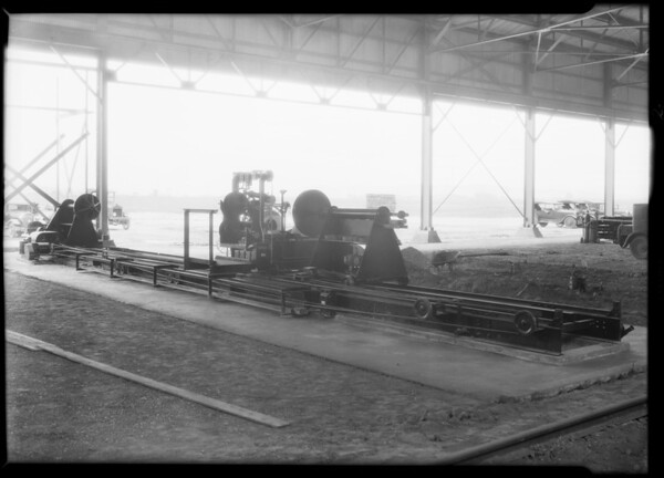 Pipe wrapping machine, Crane Co., Southern California, 1931