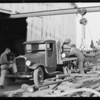 Crescent Tool Co. trucks near Signal Hill, Long Beach, CA, 1929