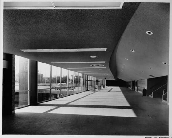 Los Angeles Memorial Sports Arena, interior view, lobby entrance