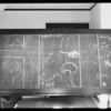 Blackboard in department 11, Superior Court, Rubin versus Wright, Southern California, 1931