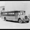 Passenger bus at First National Studio, Southern California, 1929