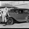 Coach Jones and his car, Southern California, 1931
