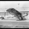 New side view of plane with insignia, Southern California, 1929