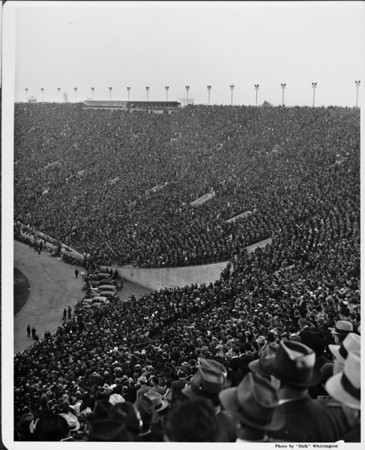 Crowds at the Coliseum in Exposition Park