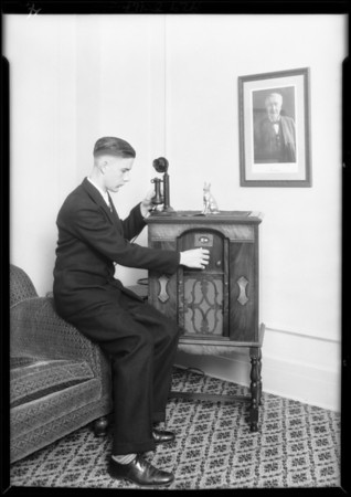 Edison radio at Ambassador, Southern California, 1929
