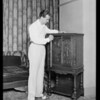Milton Charles & radio, Southern California, 1929