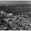 Aerial view facing northwest over Wilshire Boulevard and Wilton Avenue