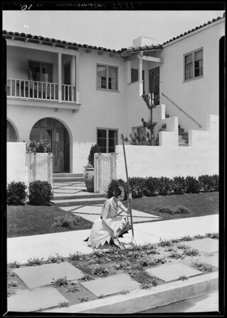Publicity shots with Margaret Hoffman, Southern California, 1929
