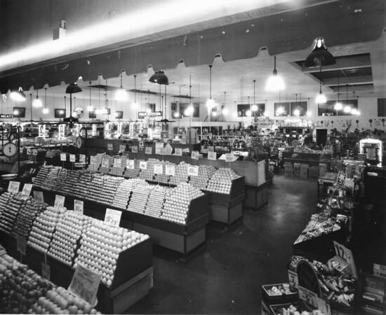 Inside a grocery, produce, etc.