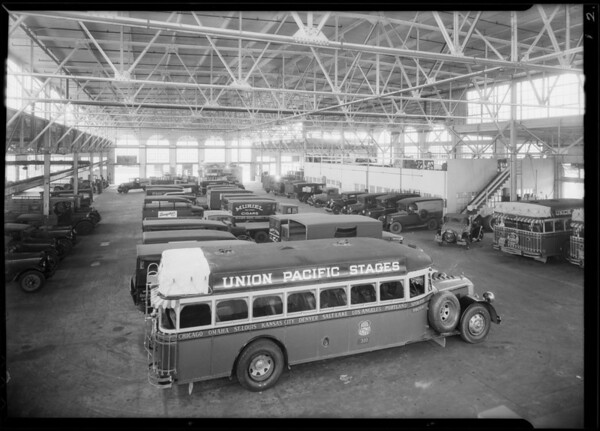 Interiors of garage, Guaranteed Maintenance Co., Southern California, 1930