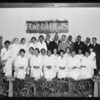 Nurses graduation exercises, Watts 7th Day Adventist Church, Los Angeles, CA, 1929