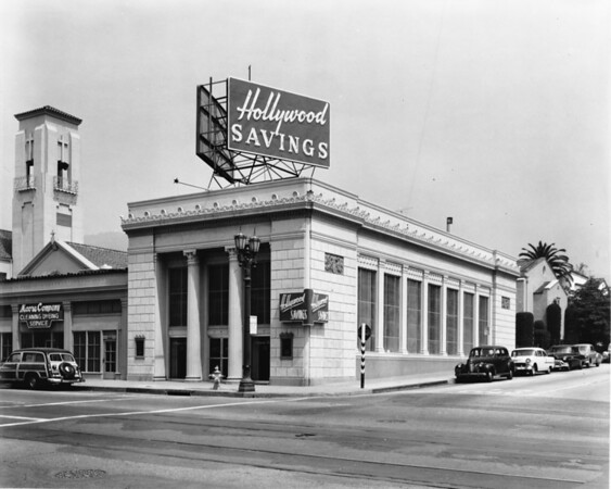 Hollywood Savings & Loan, Moore Company Cleaning & Dyeing Service