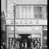 Exterior of store, Zukors, 611 South Broadway, Los Angeles, CA, 1931