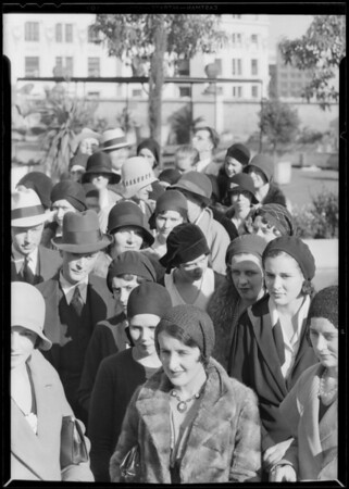 Groups for composite of crowd, Southern California, 1930