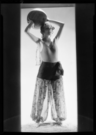 Hollywood see legs costume, Southern California, 1931