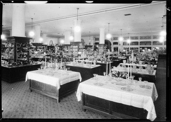 Stove, china, and hardware departments, May Co., Southern California, 1931