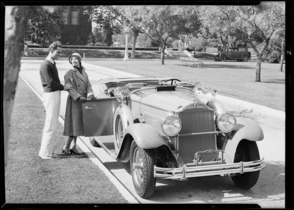 Packard Roadster (car used for Union Oil Co. photograph), Southern California, 1931