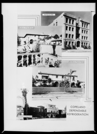 Composites of homes, Thor Pacific Co., Southern California, 1931