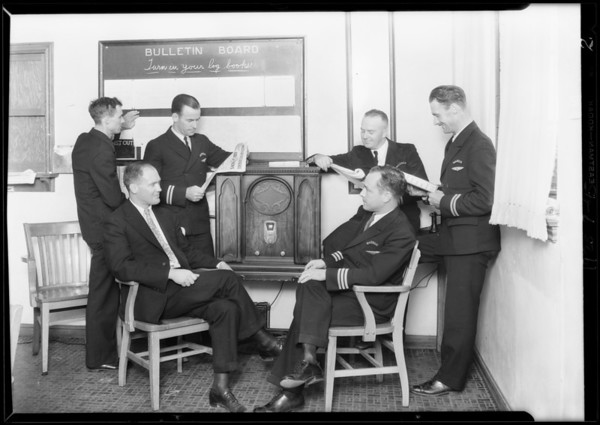 Majestic Radio and pilots, Southern California, 1929