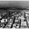 Aerial view facing north over Hope Street in Downtown Los Angeles