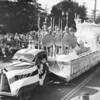 The float representing Leonidas, California, in the American Legion Parade