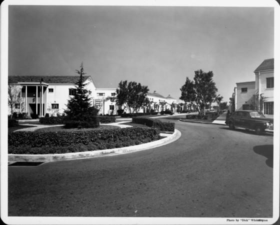 Upscale residential area with circular drive through cul de sac