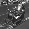 American Legion parade, Long Beach, Santa Claus on sleigh from Santa Claus post Indiana 242