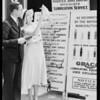 Estelle Ettere & grease guns, Southern California, 1931