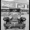 Wrecked Cadillac rebuilt, Southern California, 1927