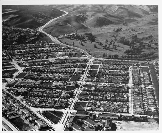 Aerial view of Beverly Hills