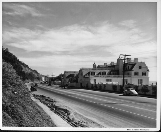 The home of Marion Davies seen from Palisades Beach Road