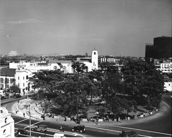 Photo of La Placita (The Plaza) at the end of Olvera Street in downtown Los Angeles