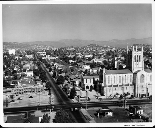 First Congregational Church and surrounding community at Sixth Street and Commonwealth Avenue, Los Angeles, CA