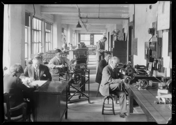 Print shop, Bankers Equipment, Southern California, 1927