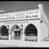 Citizens Bank building at Leimert Park, Los Angeles, CA, 1930