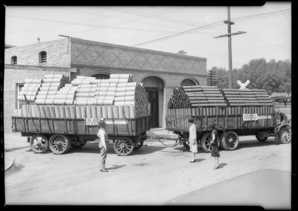 L.A. Paper Co. truck of roofing paper, Southern California, 1926