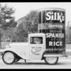Spanish rice advertising car, Southern California, 1932