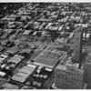 Aerial view facing north in West Los Angeles at Wilshire Boulevard and Granville Avenue