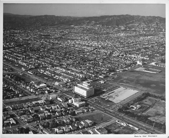Aerial view of the future site of Park La Brea