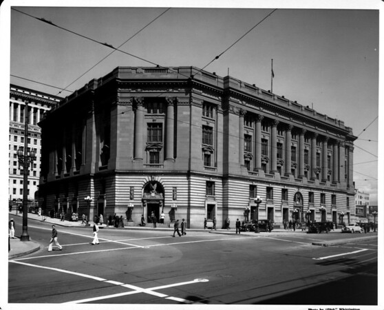 In the Civic Center of Downtown Los Angeles, Post Office Government Building on the corner of Temple Street and North Main Street